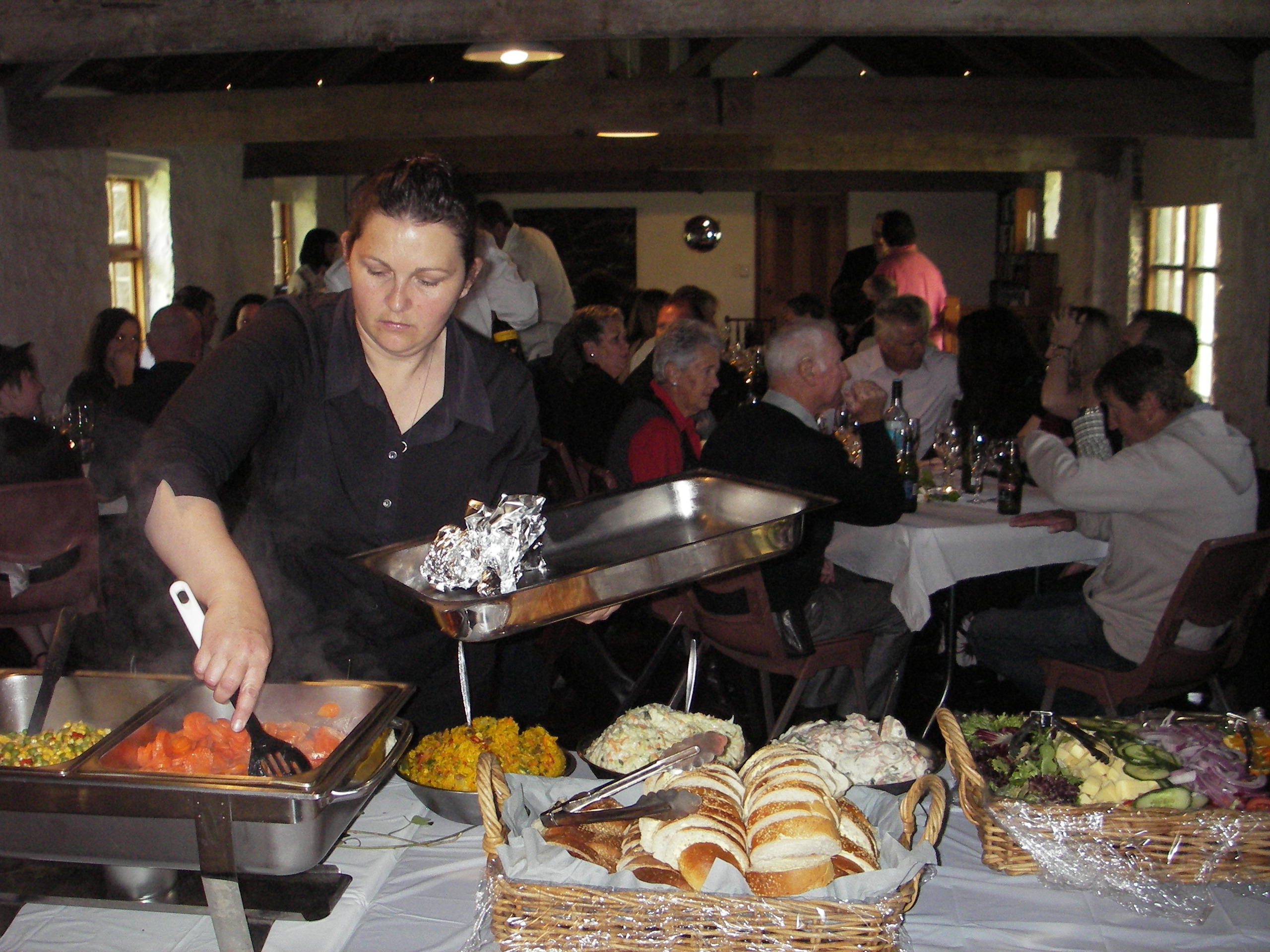 Fabulous Feasts – serving the meats, prepared on site.
